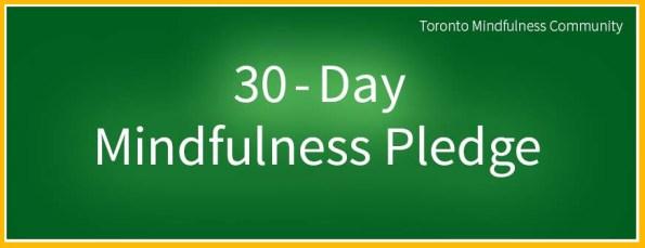 30 Day Mindfulness Pledge