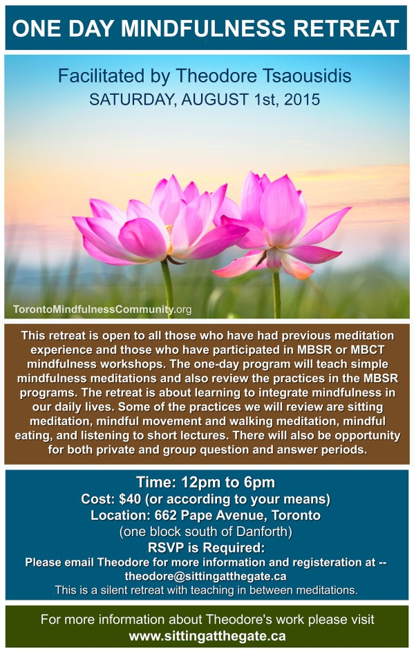 MBSR August 1 2015 One day retreat