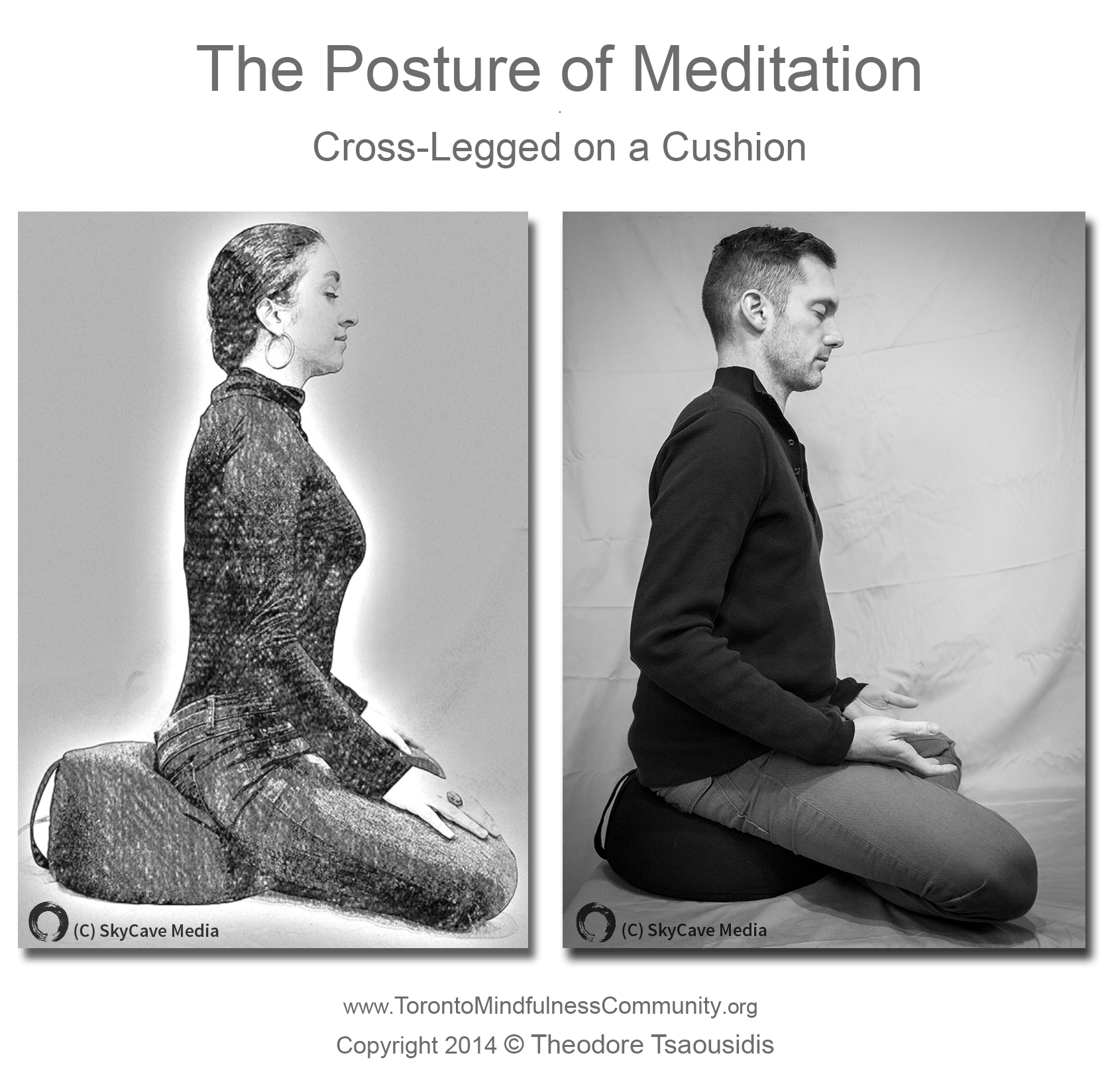The Posture Of Meditation On A Cushion