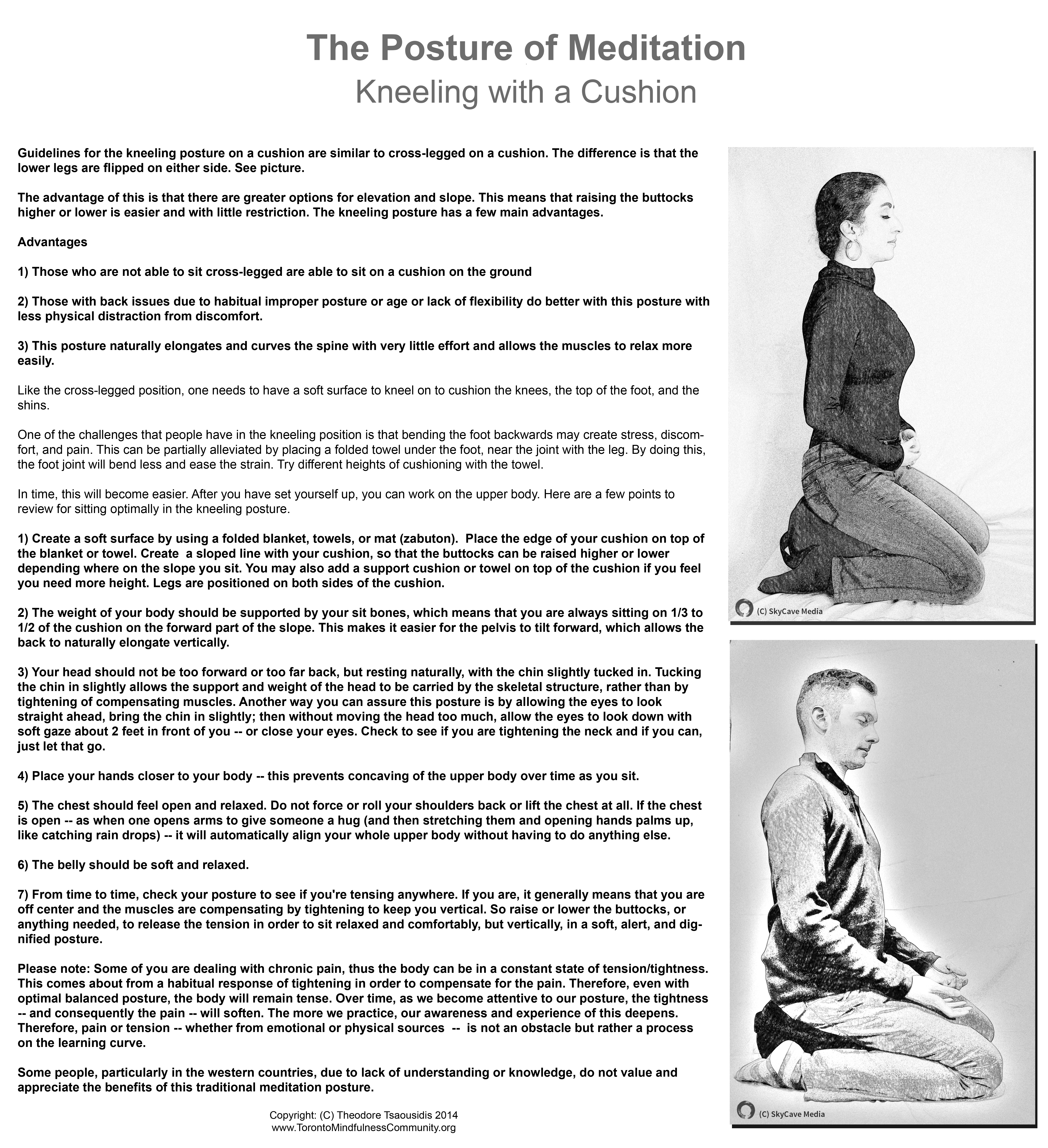 The Posture Of Meditation: Kneeling With A Cushion