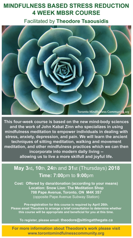 MBSR May 2018 Course